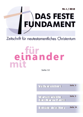 Das Feste Fundament 1/2015